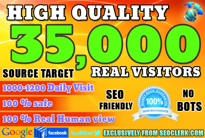 Drive 35000 website traffic for one month