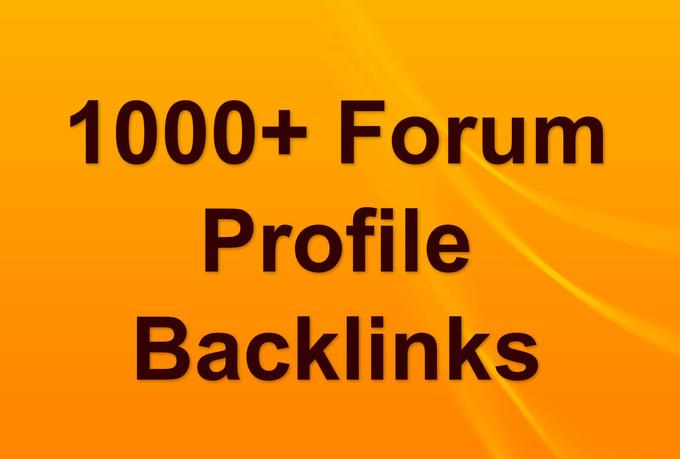 I will build 1000 forum BACKLINKS, 500 Bonus Backlinks