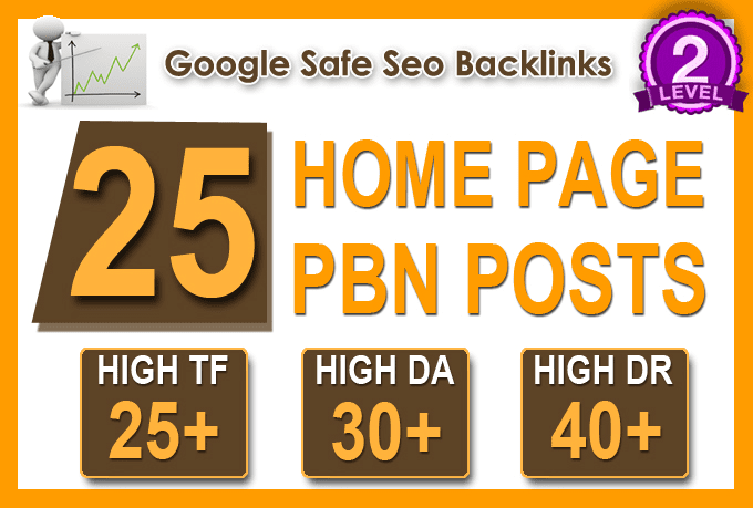 I Will Do 25 High Tf Cf Da Pa Homepage Pbn Backlinks Permanent