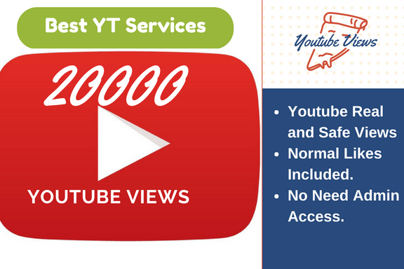 give you 20k+ Youtube real & safe human views & splitabe views within 3 days