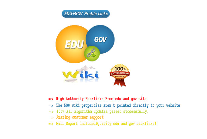 I will create 20 edu,  gov and 200 wiki links