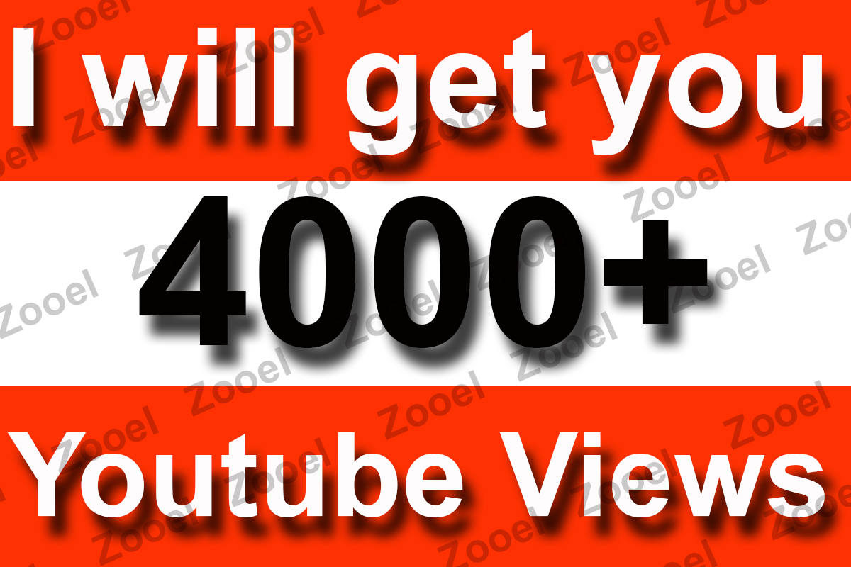 Instant Start 4000+ High Retention YouTube Video Views