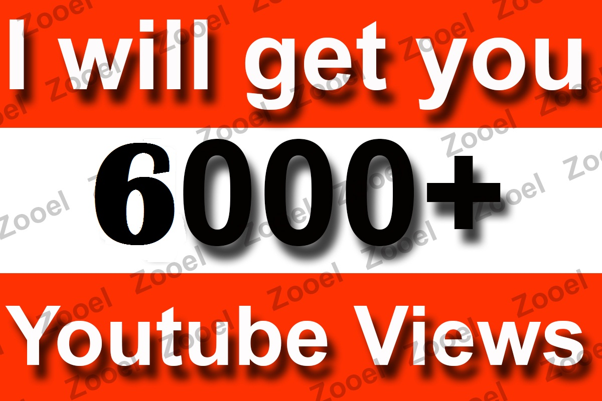 Instant Start 6000+ High Retention YouTube Video Views