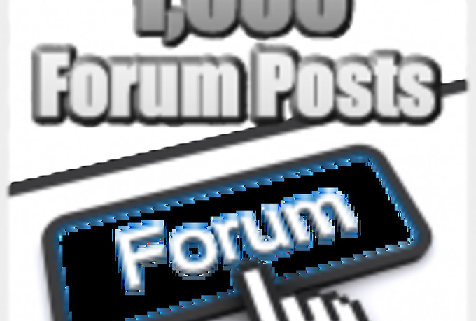 create 2400 High Pr DoFollow SEO backlinks from Forum Posts