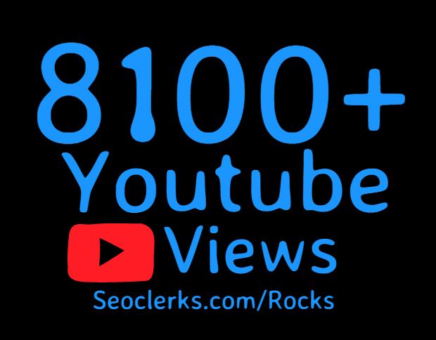 Add 8100+ High Retention Youtube views