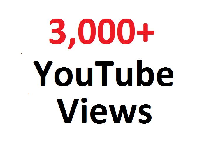 Add 3000 3K Youtube hits Guaranteed