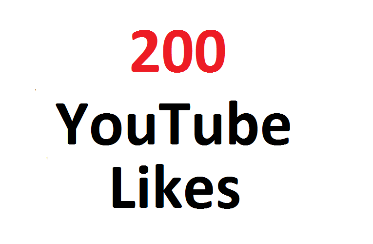 200 real youtube video likes