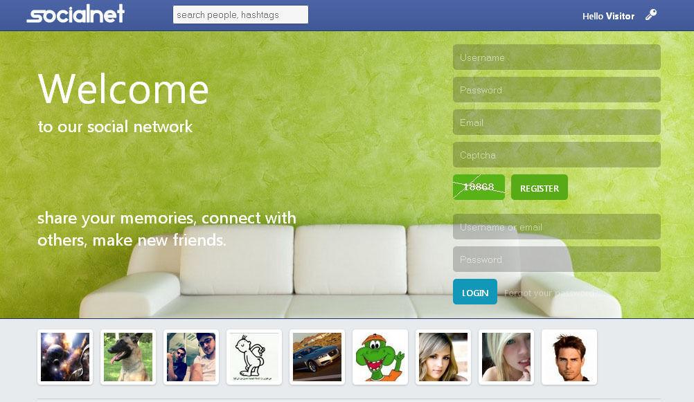 Social Network Website Just like Facebook