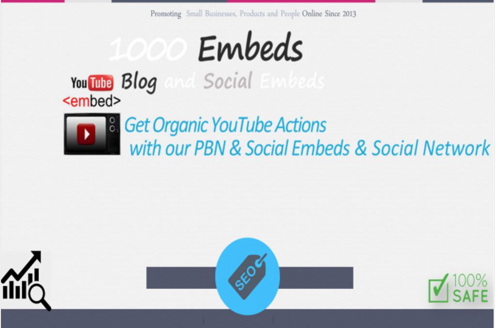 Provide 1000 Youtube embeds plus extra bonus.