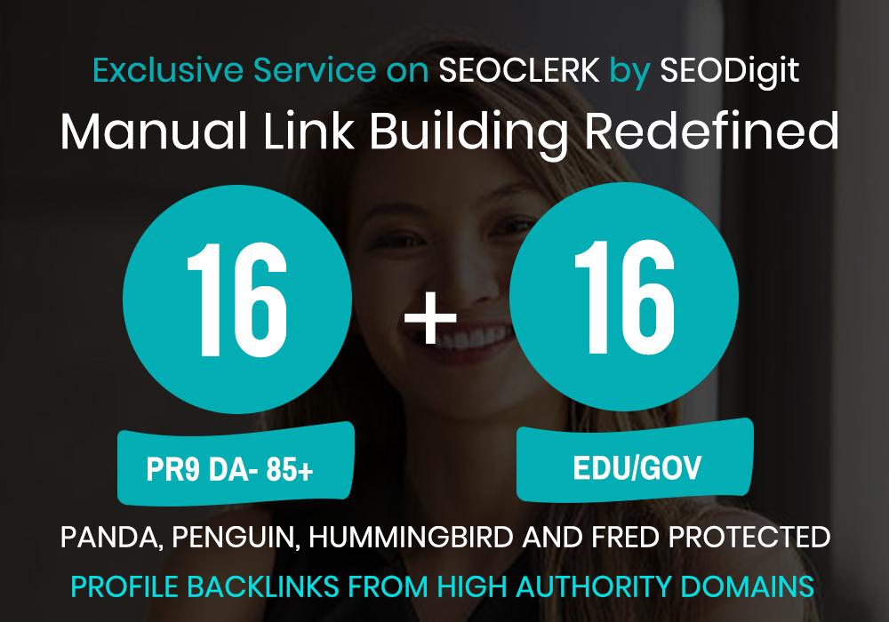 SERPs Booster-16PR9 and 16EDU/GOV profile backlinks in 24 hours