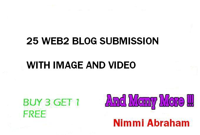 Create 25 Web2 Blogs for Your website with image and Video