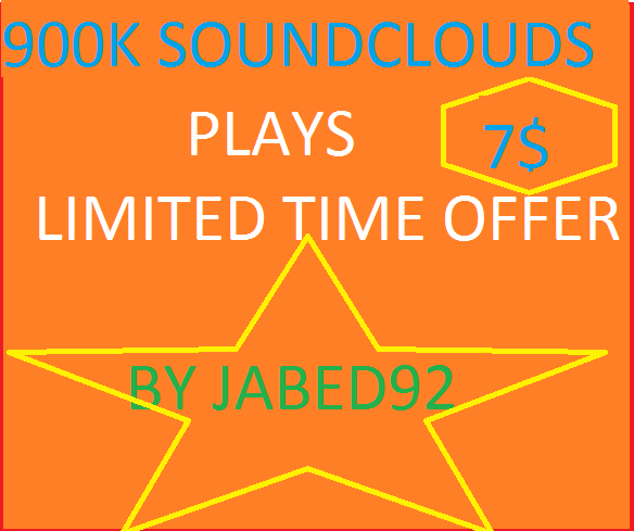 get 1MILLION Plus buy 2 get 1 free  SOUNDCLOUDS SPLITABLE PLAYS ONLY