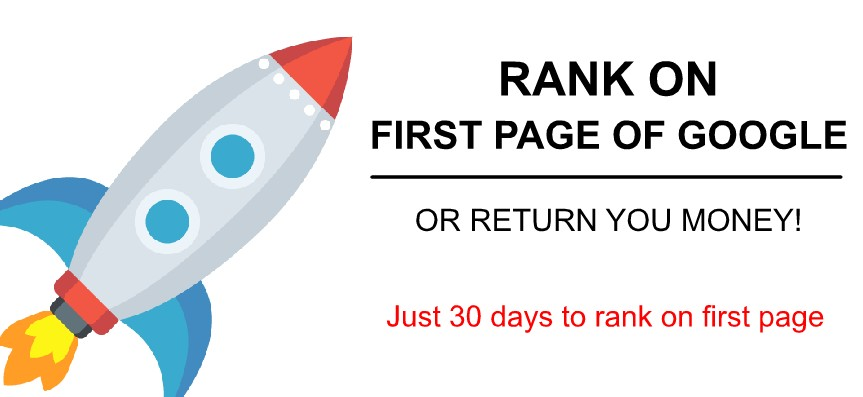 Rank your website first page or full refund