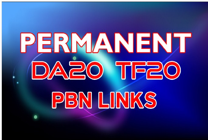 SUPER STRONG 20 Permanent PBN Links DA20+ & TF 20+