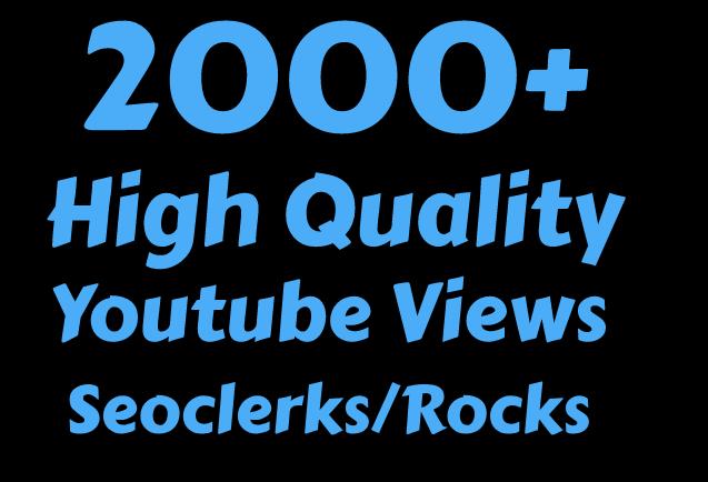 I will Add 2000+ High Quality You Tube vi'ews
