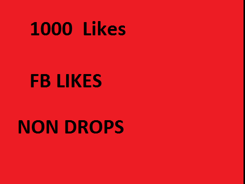provide you F--ACEBOO-K non drops 1000 likes  only
