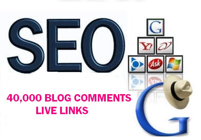 40,000 Blog comments live links for your SEO.