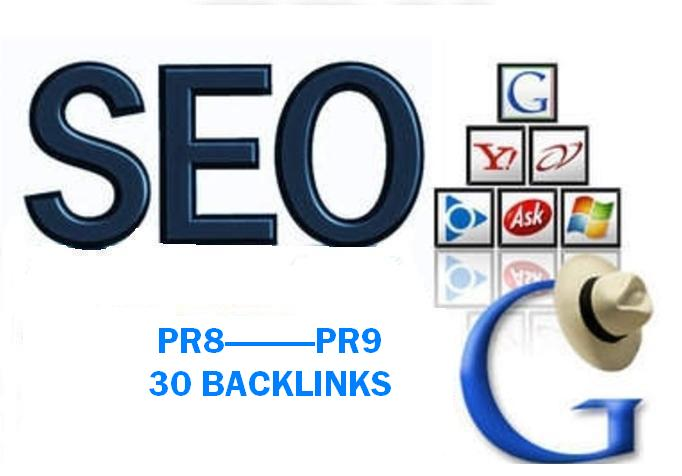 30 PR8 or above manual backlinks for your Website