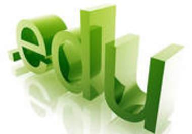 Get You website 250 edu backlinks, edu backlinks are most powerful and crazy links Dofollow Bonus