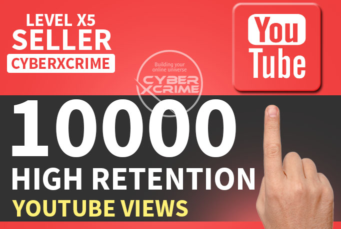 get you 10000+ High Retention Youtube VIEWS within 72hrs