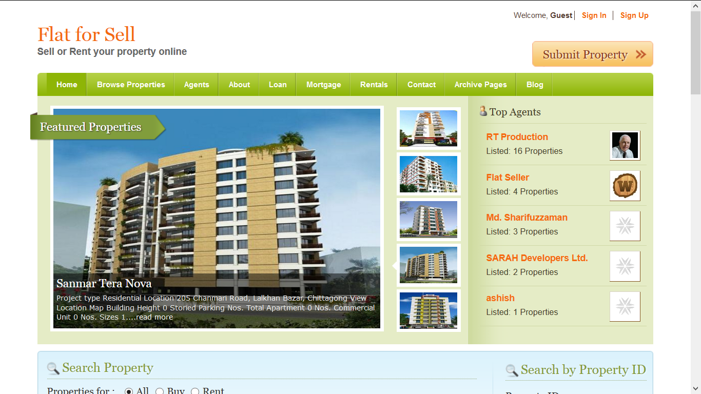Advertise in Property selling website for 1 month