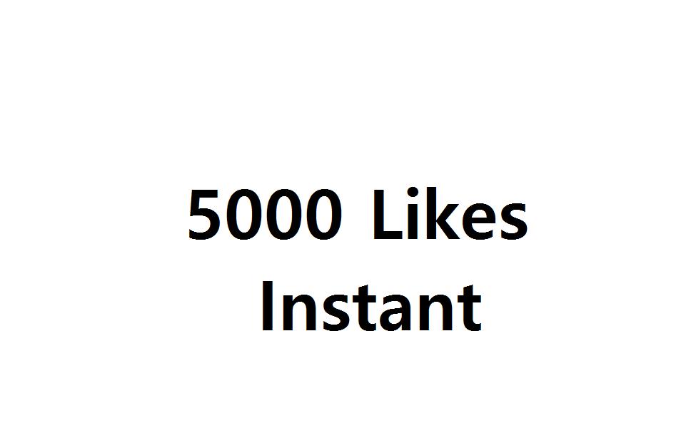 Instan 5000 Likes to social media posts