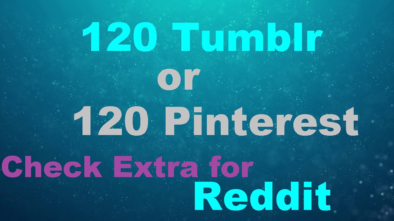 120 Tumblr Seo Siganls or 120 Pinterest Powerful  Social Bookmark Backlinks Signals for Google rankling