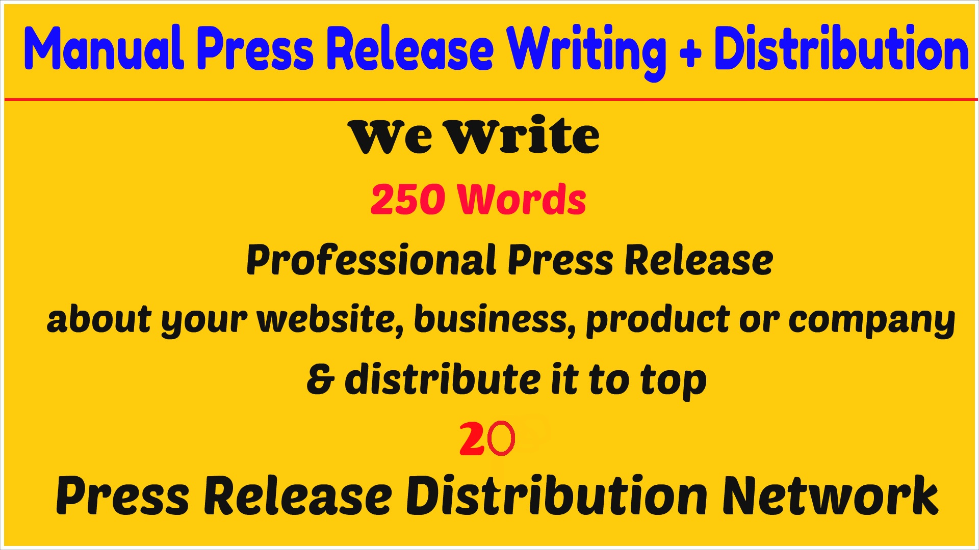 I will write a professional press release and distribute it to top 20 press release network