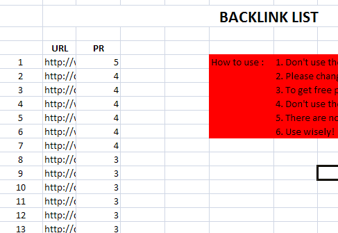 I will give you 50 website list PR 1 to 9 commentable for your backlink - 0.1 per link OMG
