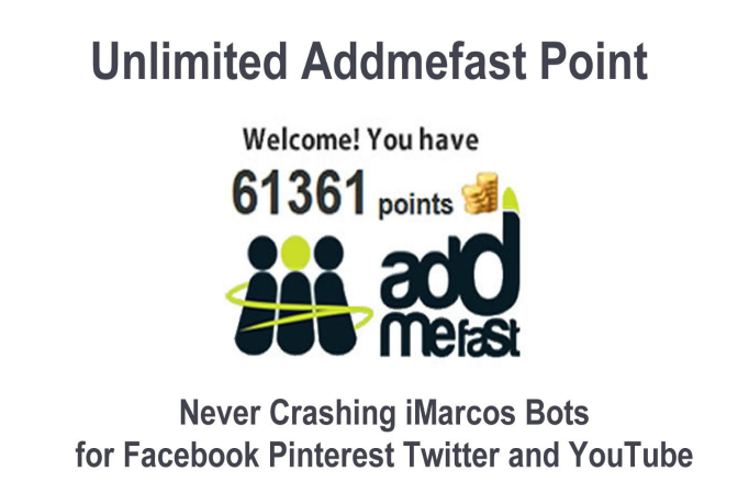 I will give you Addmefast bot to earn unlimited points for