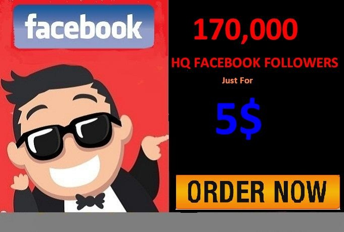 Provide You 170,000 HQ Facebook Followers on your profile