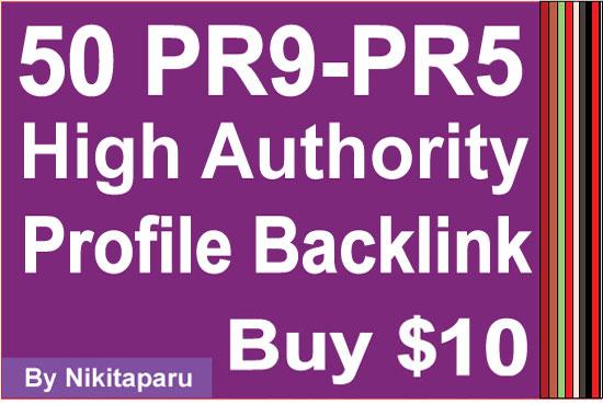 50 PR9 Paul Angela High Authority Quality Profile Backlinks