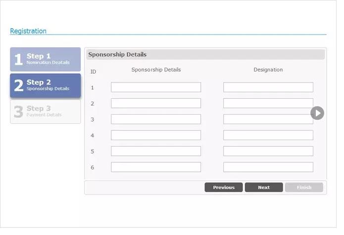 create jQuery multi step