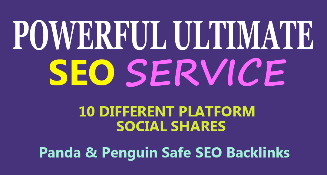 All in One Powerful Ultimate SEO Service