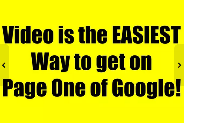 seo optimize your video on Page One Google