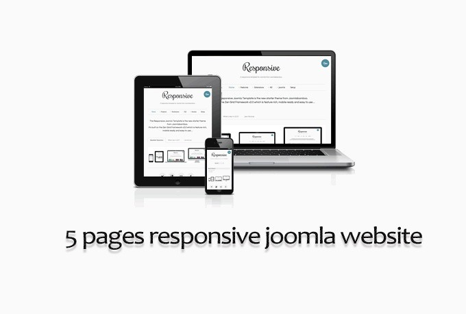 I will develop a 5 pages responsive Joomla website