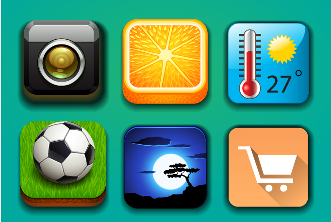 I will design a professional and eye catching app icons