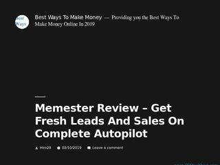 Memester Review &ndash Get Fresh Leads And Sales On C... Sponsored Blog Review