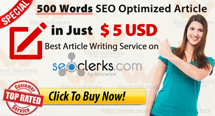 I will Write up to 500 Words with EXTRA FREE SERVICES