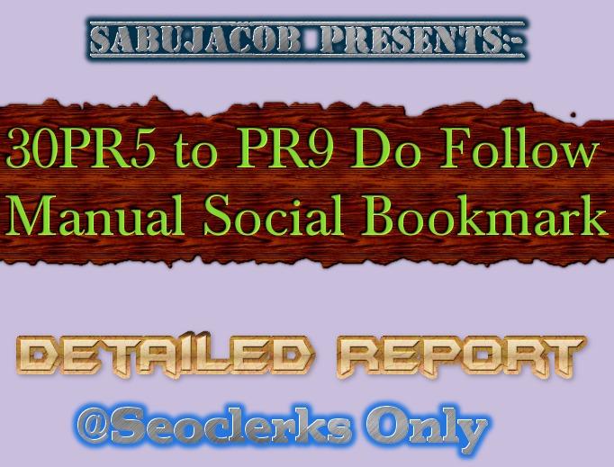 30 PR5 to PR9 Do Follow Social Bookmarks