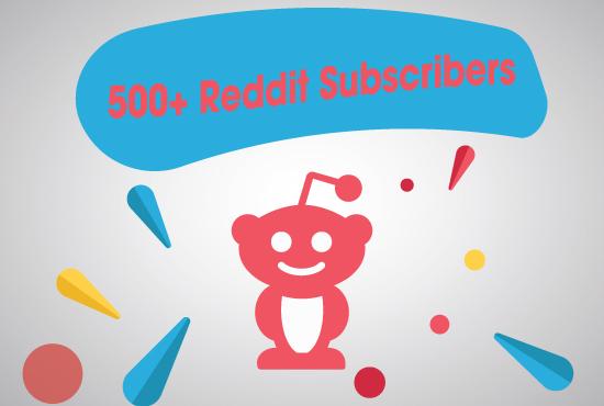Instant 500+ Reddit SubReddit Subscribers or Readers