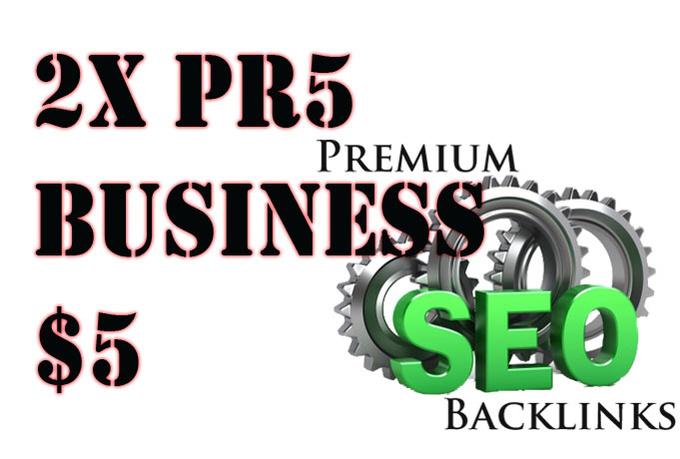 I'll give you 3x PR5 backlink permanent business Valid