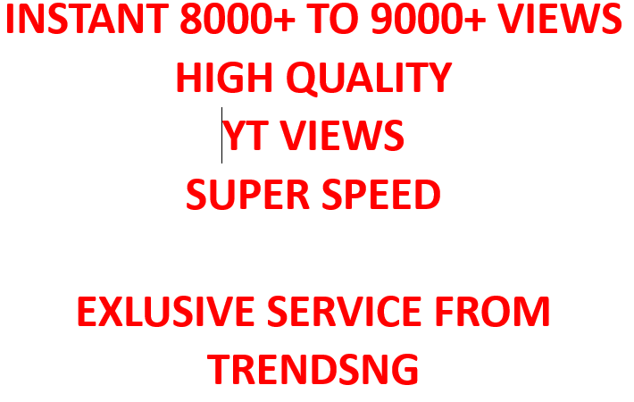 I will Give You Instant 1000+ YouTube Views
