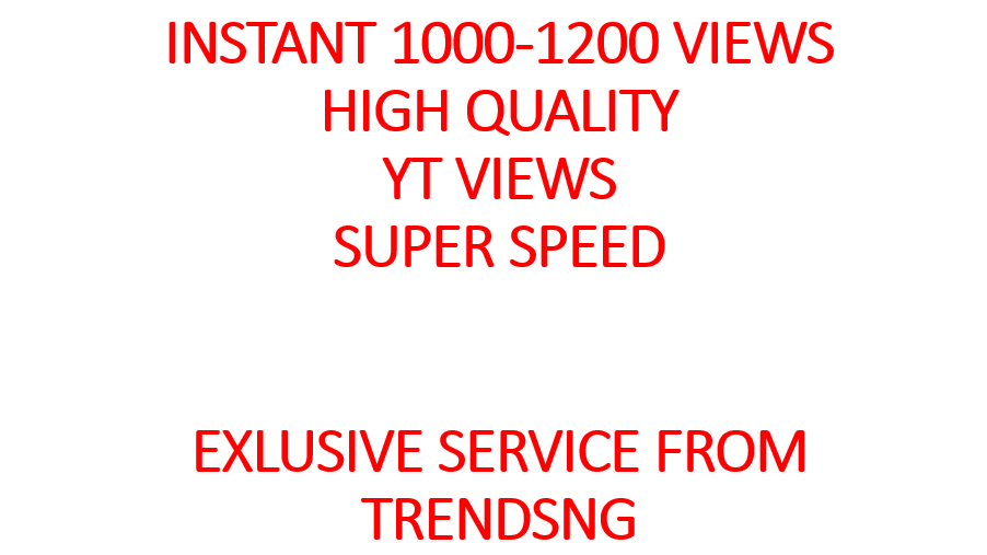 I will Give You Instant 1000-1200 YouTube Views