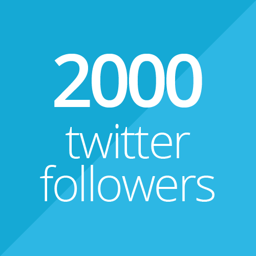 2000 Twitter followers