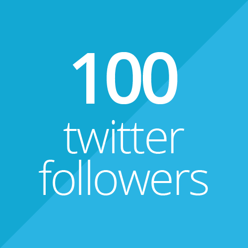 100 Twitter followers