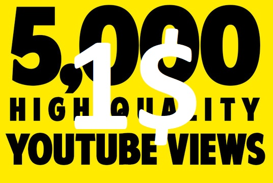 I will Add 5000+ High Quality Youtube views Fast Delivery