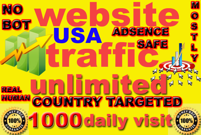i will give send 10k super targeted usa website traffic daily visitors
