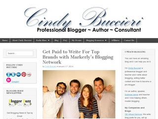 Blogging with Cindy