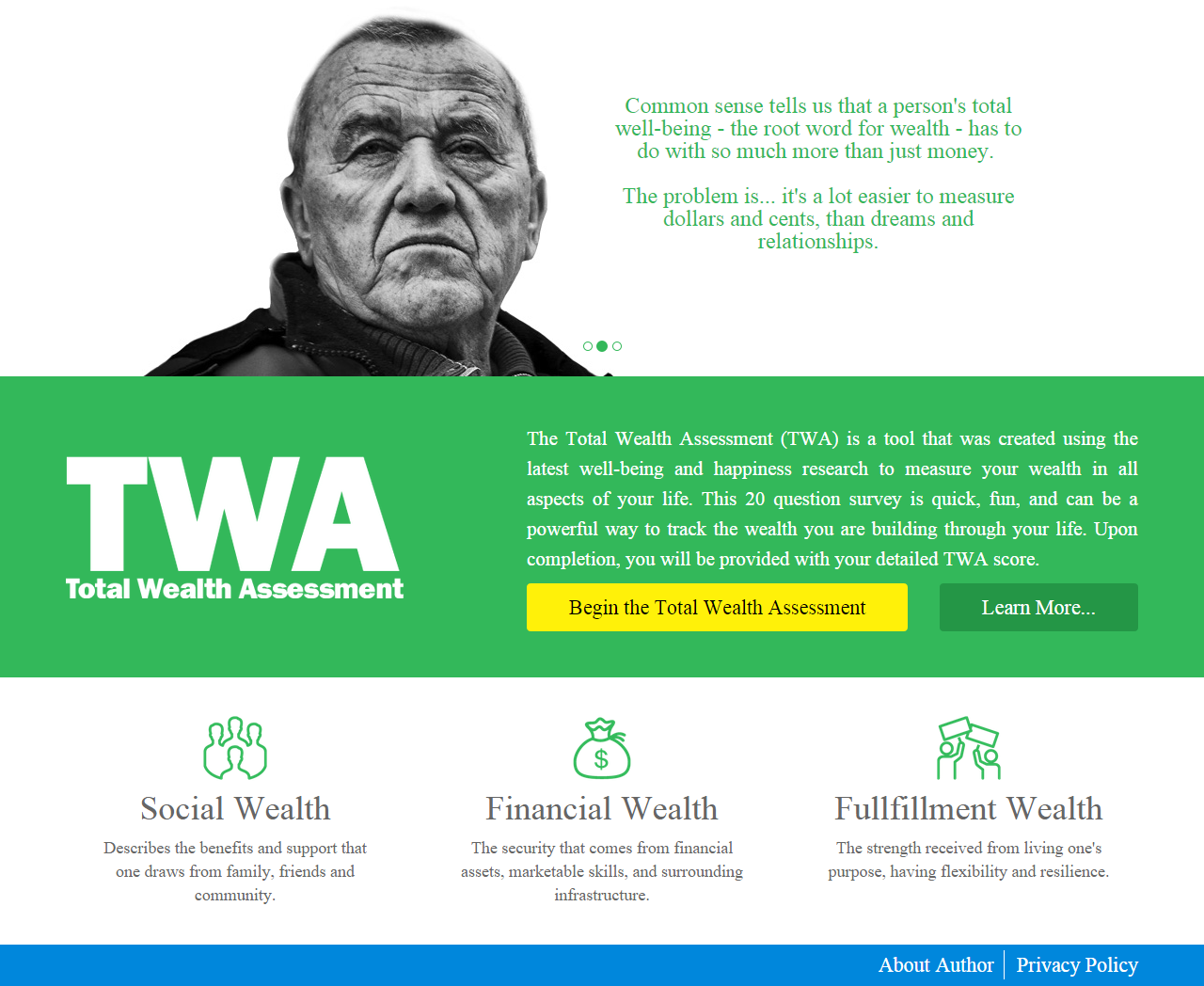 Responsive Design with Development a Professional Website for Total Wealth Assessment